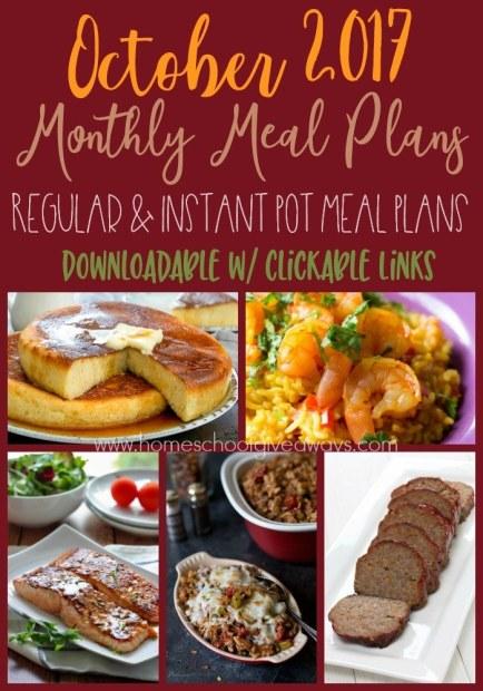 Free October Meal Plan