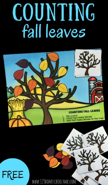 Free Counting Fall Leaves Printables