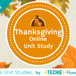 Free Thanksgiving Online Unit Study – Limited Time!