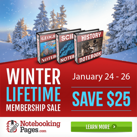 Notebooking Pages Lifetime Membership Sale - Save $25! (LIMITED TIME!)