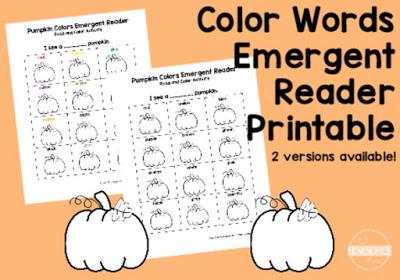 Free Color Names Pumpkin Printable