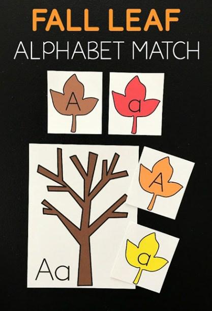 Free Fall Leaf Alphabet Match
