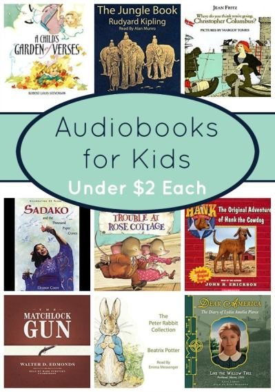Audiobook Deals for Kids Under $2 Each!