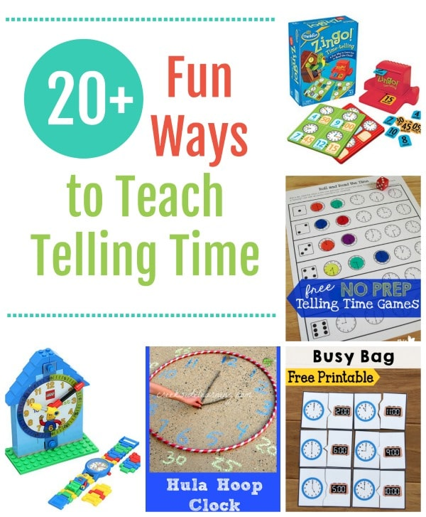 20+ Fun Ways to Teach Telling Time