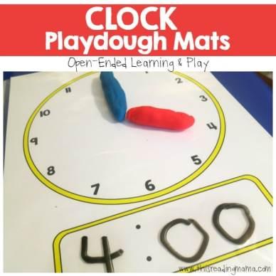 Clock Playdough Mats