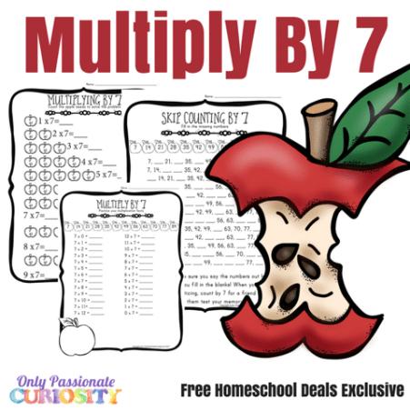 Free Fall Multiplication Worksheets