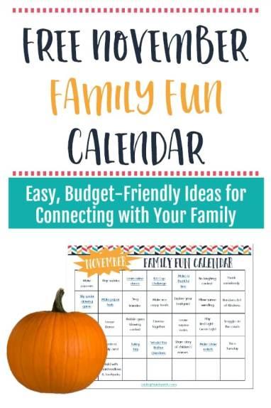 November Family Fun Calendar
