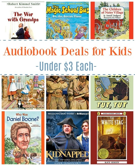 17 Audiobook Deals for Kids Under $3: Magic School Bus, Kidnapped, & More!