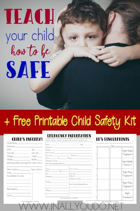 Free Child Safety Kit Printables