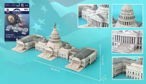 US Capitol Building 3D Puzzle Only $11.79!