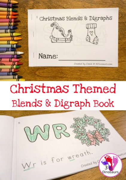 Free Christmas Blends & Digraphs Easy Reader Book