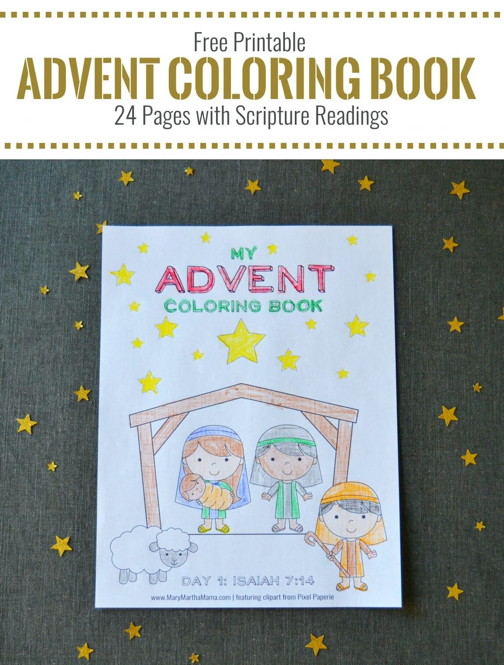 Free Advent Coloring Book