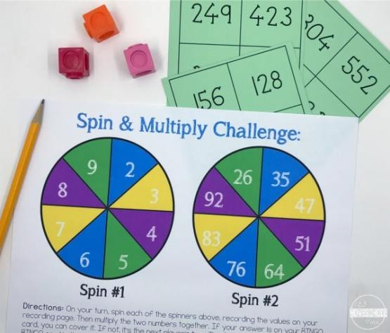 Free Spin & Multiply Math Game