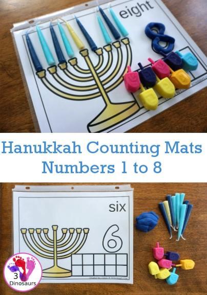 Free Hanukkah Counting Mats