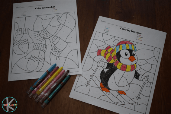 Free Winter Color by Number Printables
