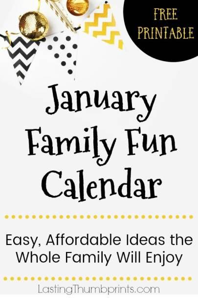 Free January Family Fun Calendar