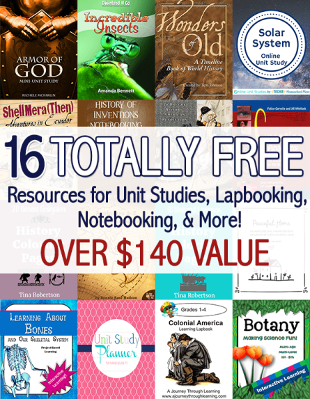 Free Homeschool Unit Study Bundle - $140+ Value! (ENDS SOON!)