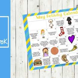 Free May Preschool Activity Calendar