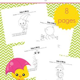 FREE SPRING COLOR & WRITE PACK (Instant Download)