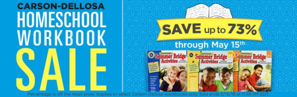 Carson-Dellosa Workbook Sale - Up to 73% Off!