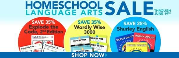 Homeschool Language Arts Sale - Explode the Code, Shurley English, & Wordly Wise