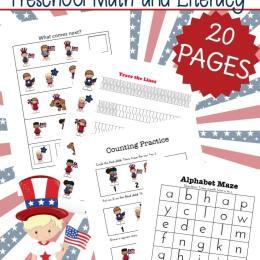 Free Patriotic Kids Learning Printables