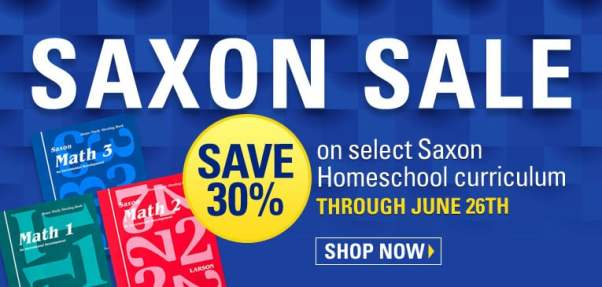 30% Off Saxon Math Curriculum
