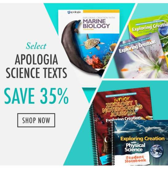 35% Of Apologia Science Texts