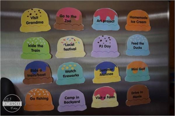 Free Ice Cream Scoops Summer Bucket List