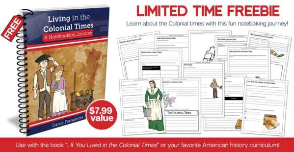 Free Living in Colonial Times Notebooking Pages ($7.99 Value!)