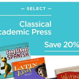 25% Off Classical Academic Press Curriculum