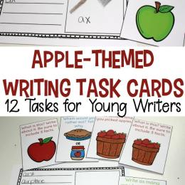 Free Apple Themed Writing Task Cards
