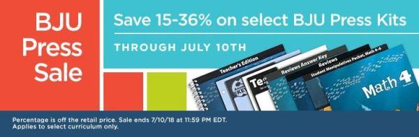 BJU Press Kit Sale - 15%-36% Off!