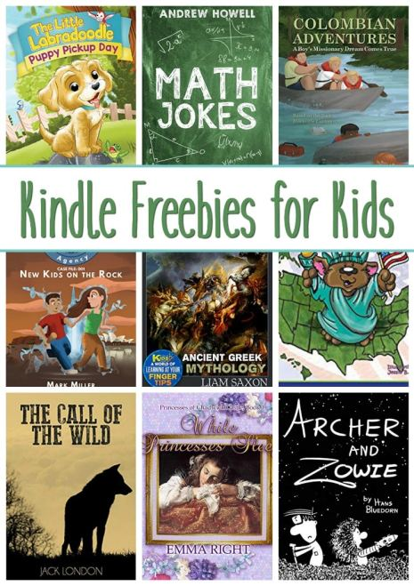 14 Kindle Freebies for Kids: Columbian Adventures, Math Jokes, & More!