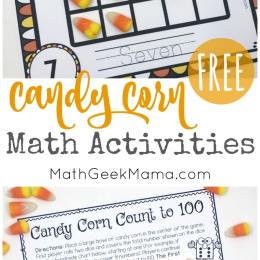 FREE Candy Corn Math Activities and Printables