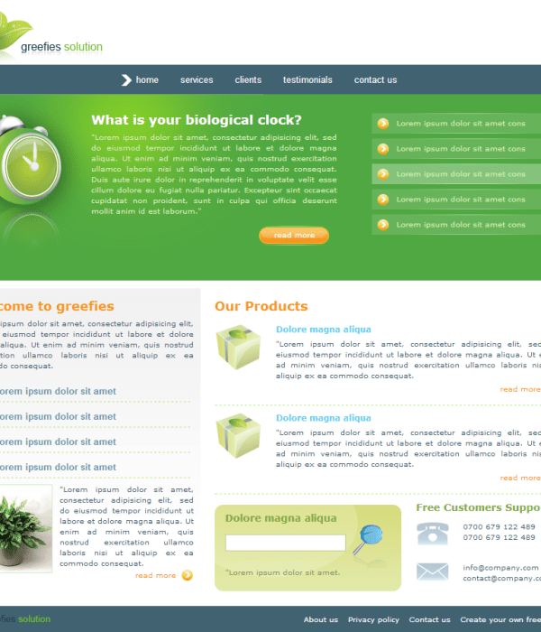 Greefies Css Template