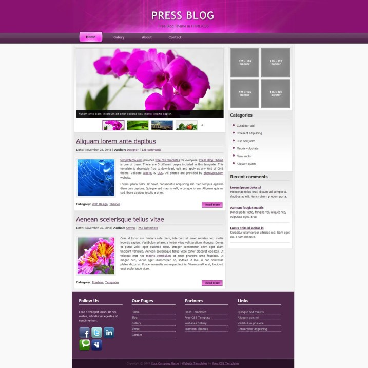 Press Blog Template
