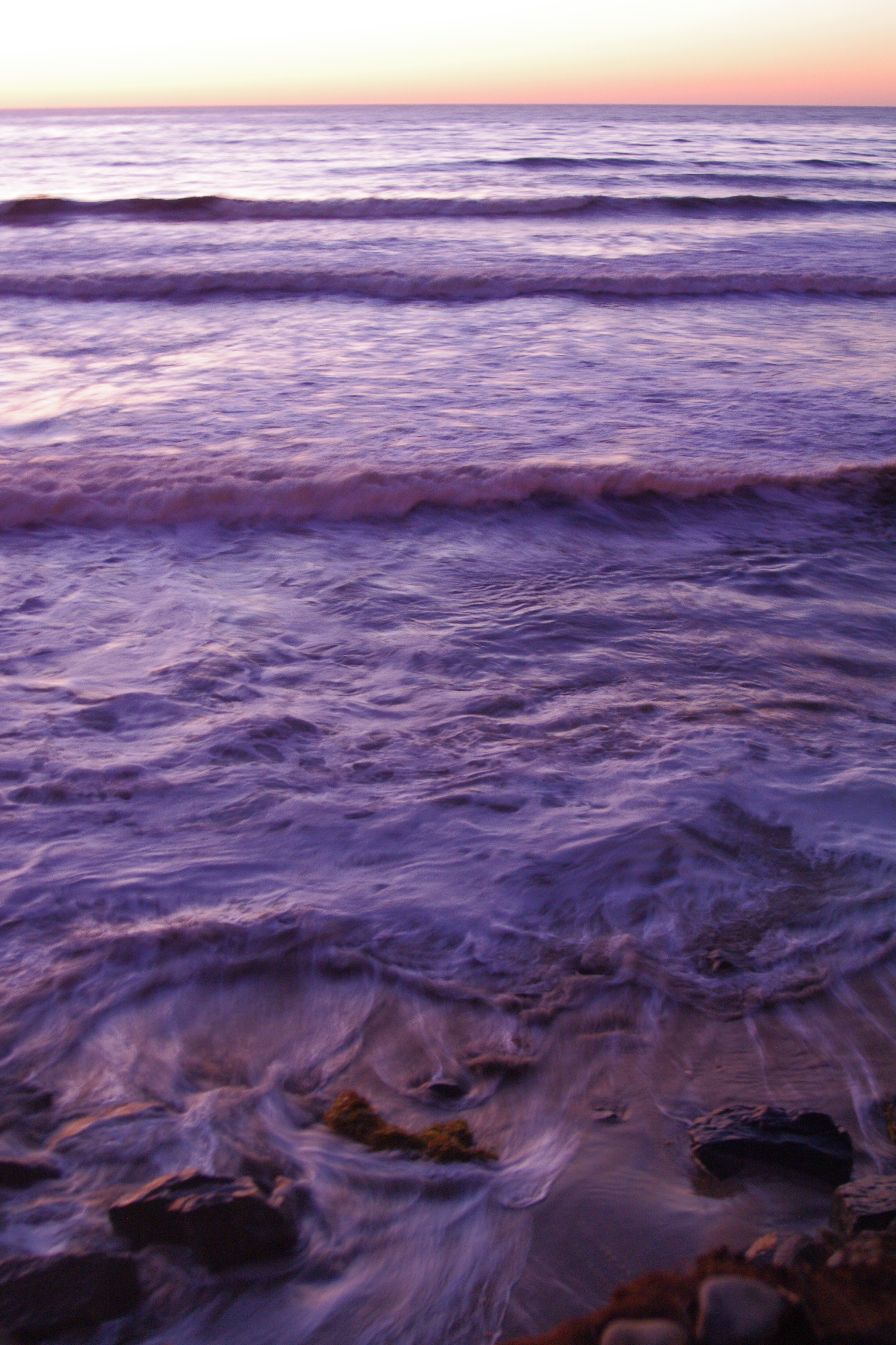 Free Stock Photo 2567 Purple Ocean At Sunset Freeimageslive