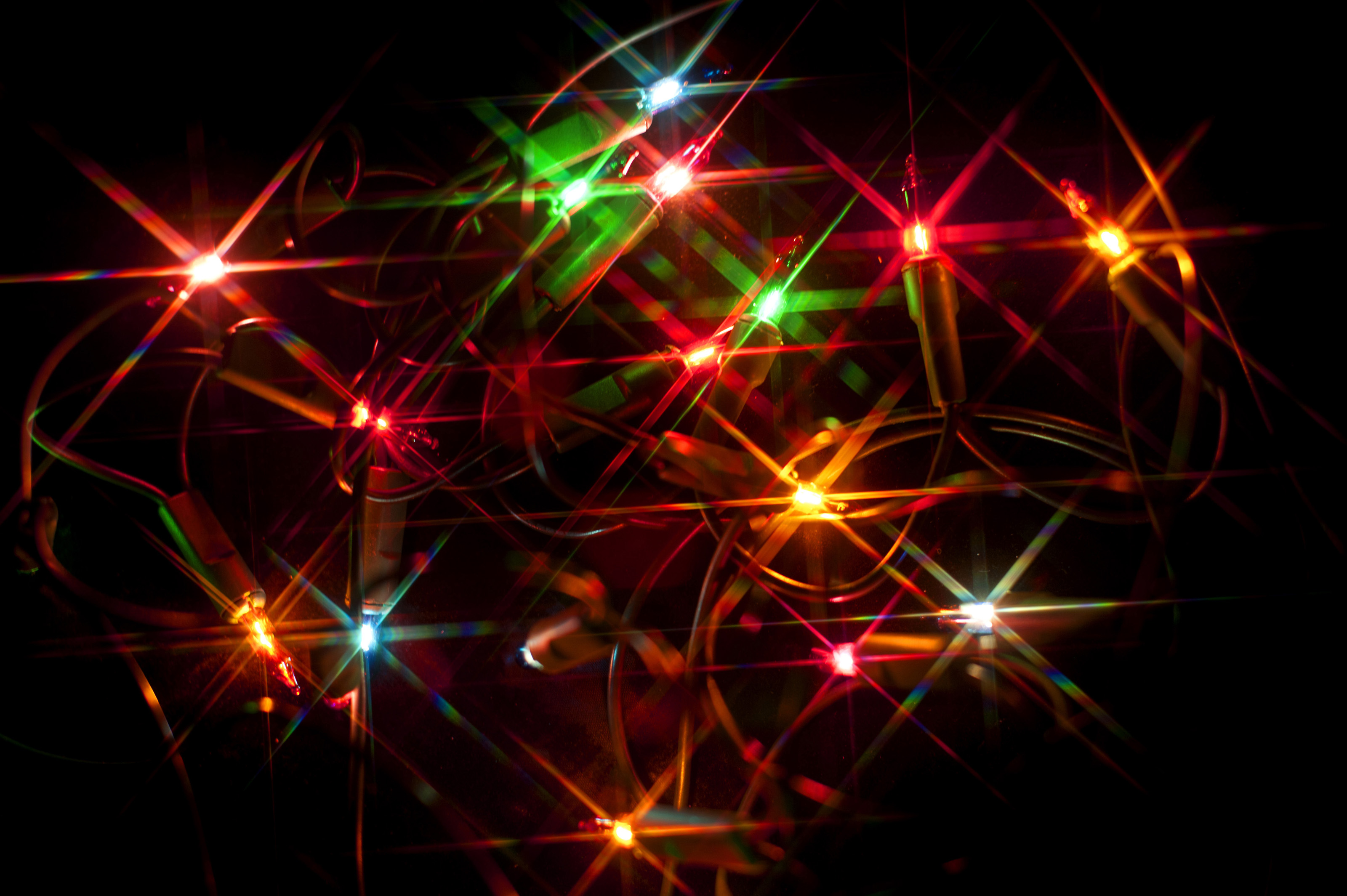 Free Stock Photo 8639 Colourful Christmas Lights