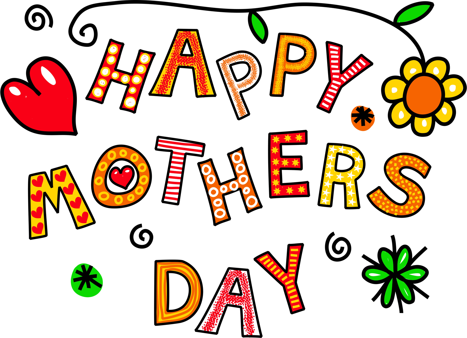 Free Stock Photo Word Art Happy Mothers Day