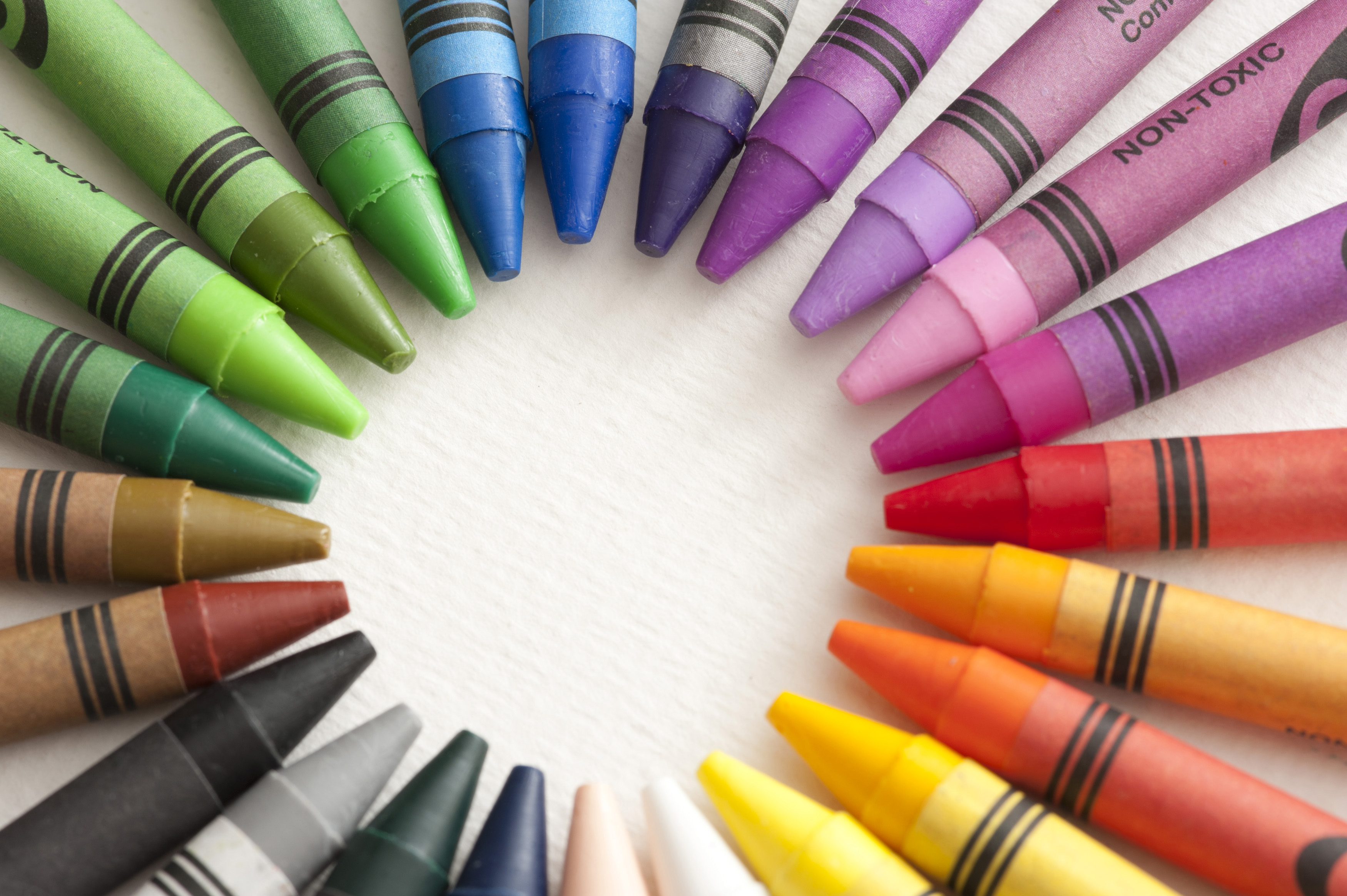 Free Stock Photo Ring Of Colourful Crayons