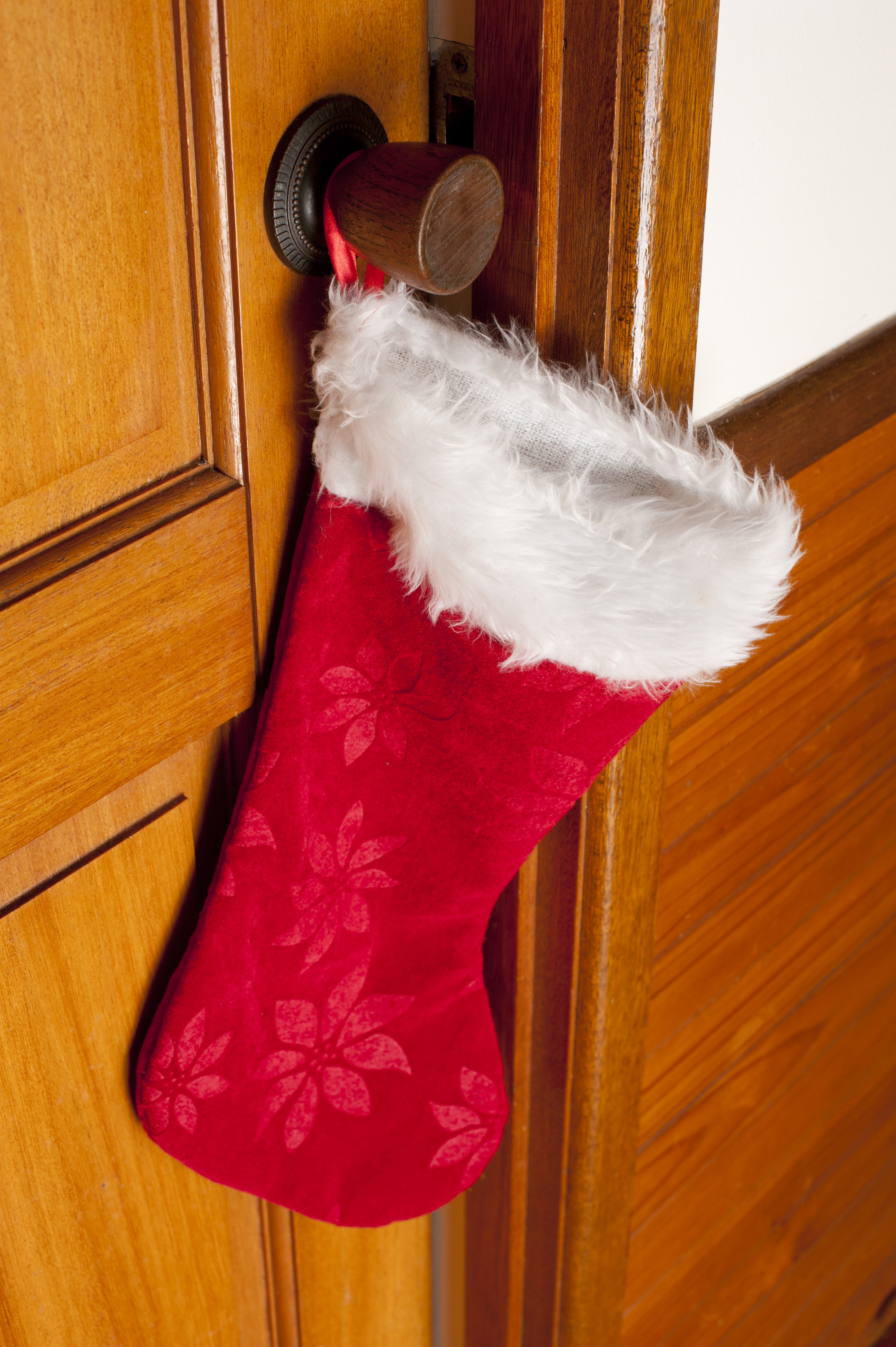 Free Stock Photo 13149 Colorful Red Christmas Stocking