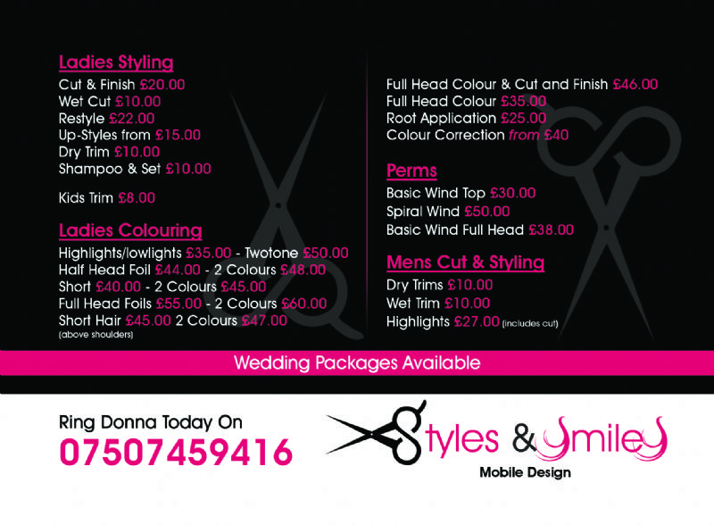 Styles And Smiles Mobile Hair Dresser Mobile Hairdresser