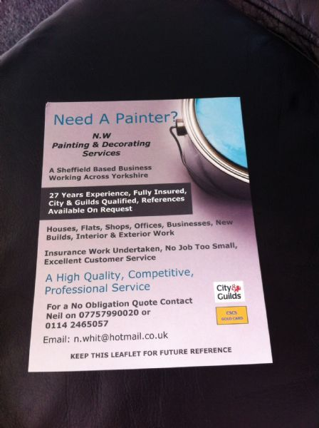 NW Painting Amp Decorating Services Sheffield 22 Reviews