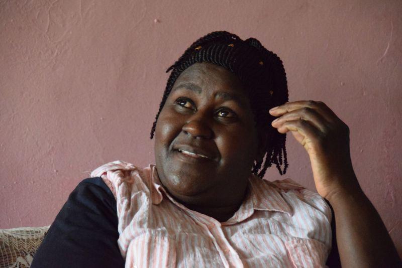 sabine sharing her story of her transition from kerosene lighting to solar