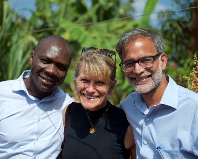 William Nyaoke of KawiSafi, Jacqueline Novogratz of Acumen, and Amar Inamdar of KawiSafi