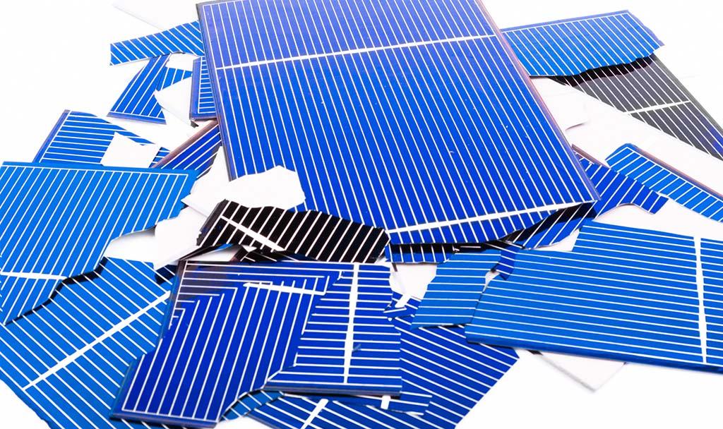 broken solar panels