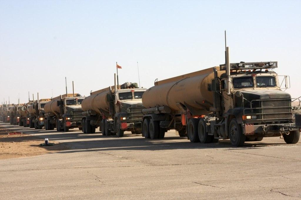Army fuel convoy