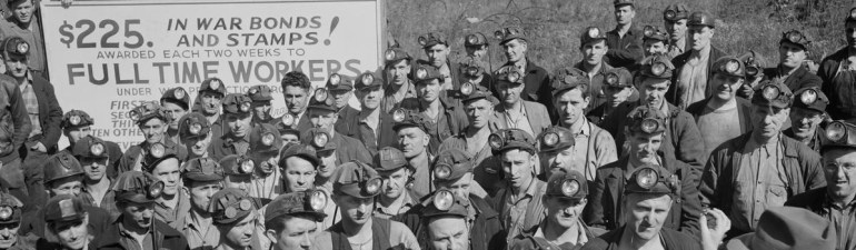 Miners at an anthracite rally