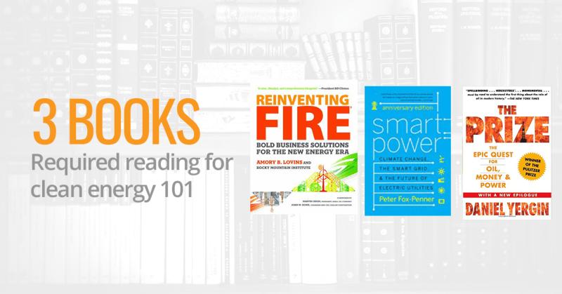 Three clean energy books
